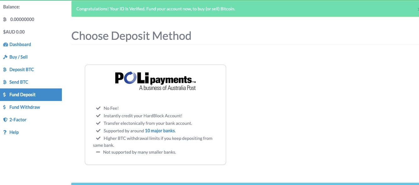 Choose Deposit Method