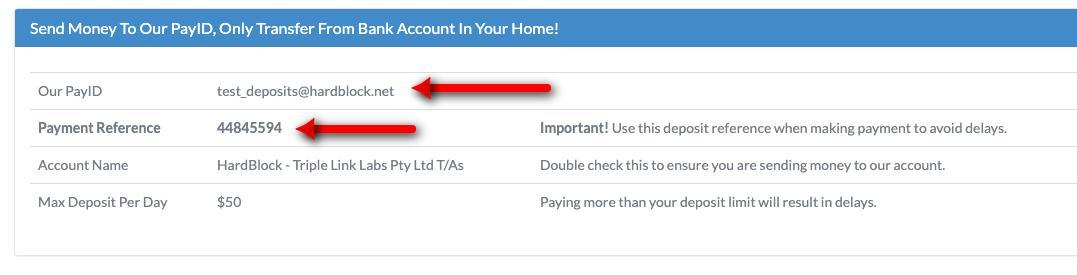 Choose Deposit Method